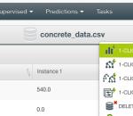 Linear Regression in a few Clicks with the BigML Dashboard
