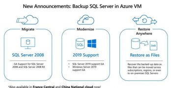Azure Backup support for SQL Server 2019 and Restore as files