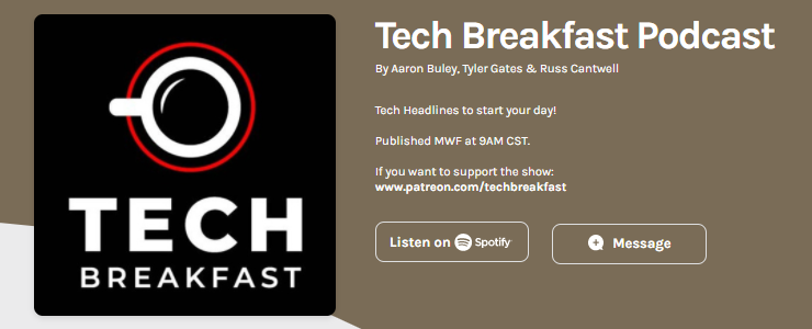 Featured on Tech Breakfast Podcast 209 – The News   Podcast 210 – EV's & Law Enforcement